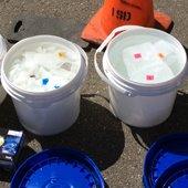 Wipes Study 1: Bucket of wipe samples